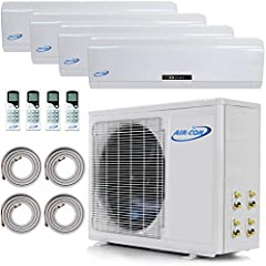Year-Round Comfort. This powerful mini split AC is an air conditioner, heater and dehumidifier all in one. Highly efficient, incredibly quiet, made from the highest quality materials. This 21 SEER quad zone mini split will cover up to 2400 sf...