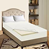 Mattress Solution 7000y-5/0 2'' High Density Foam Mattress Topper with Removable Cover, Queen Size, White