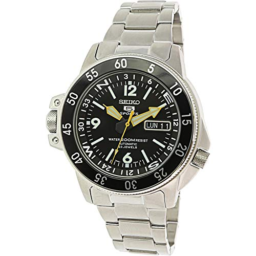 (Seiko Men's SKZ211K1 Five Sports Stainless Steel Automatic Watch)