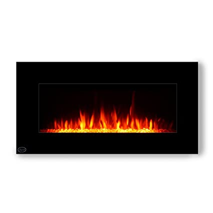 Miraculous Clevr 39 Adjustable Electric Wall Mount Fireplace Heater 750 1500W Mordern Black Heat Decorative Crystals Adjustable Front And Back Light Color Interior Design Ideas Gentotryabchikinfo