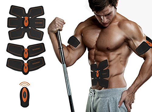 Abdominal+Machine Products : Basherry Ab Toner Ab Trainer Abdominal Toning Belts Muscle Training Gear,Portable Unisex Fitness Training Gear,Wireless Muscle Exercise Equipment Shaping Instrument