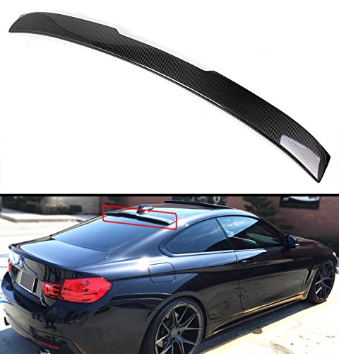 FOR 2014-17 BMW F32 4 SERIES & 2015-2017 F82 M4 2 DOOR COUPE CARBON FIBER REAR WINDOW ROOF SPOILER