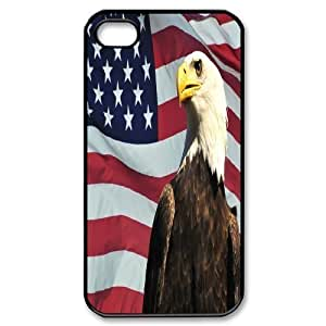 ALICASE Diy Customized hard Case American Flag For Iphone 4/4s [Pattern-1]