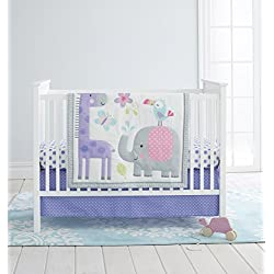 Cuddle Time 3 piece Crib Bedding Set, Sweet Safari