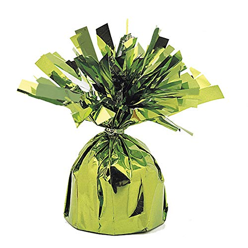 Unique Party Foil Tassels Balloon Weights (Pack of 6) (One Size) (Lime Green)