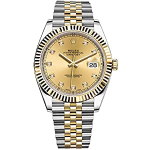 Rolex Datejust 41 Stainless Steel & 18K Yellow Gold Jubilee Champagne Diamond Dial 126333