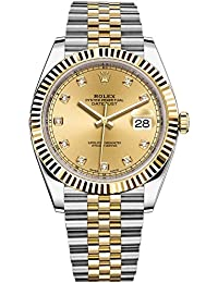 Datejust 41 Stainless Steel & 18K Yellow Gold Jubilee Champagne Diamond Dial 126333