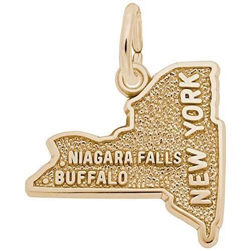 Rembrandt Charms Buffalo, Niagara Falls Charm, 10K Yellow Gold