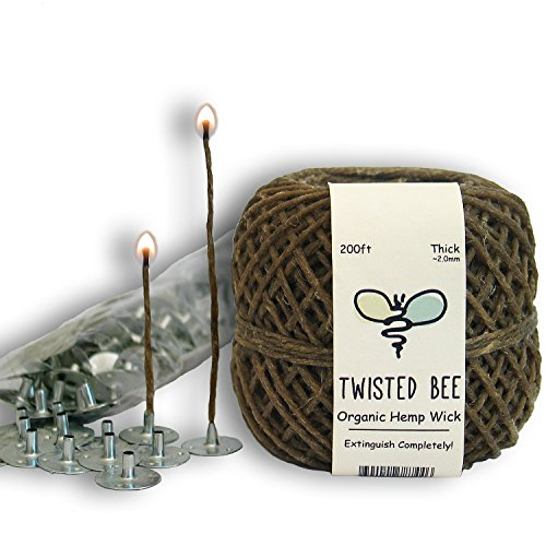 100-Organic-Hemp-Candle-Wick-Wick-Sustainer-Tabs-Twisted-Bee