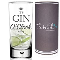 Gin & Tonic HighBall Glass & Gift Tube Set - A Funny Novelty G&T Gift For Any Gin Lover