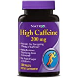 Natrol High Caffeine 200mg Tablets, 100 Count