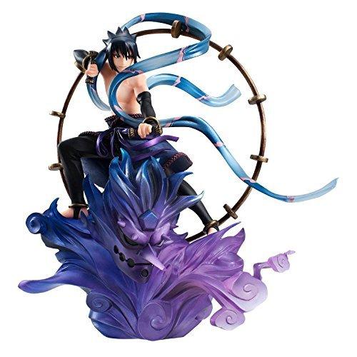 (MegaHouse Naruto Shippuden Sasuke Uchiha Raijin GEM Series Remix Statue)