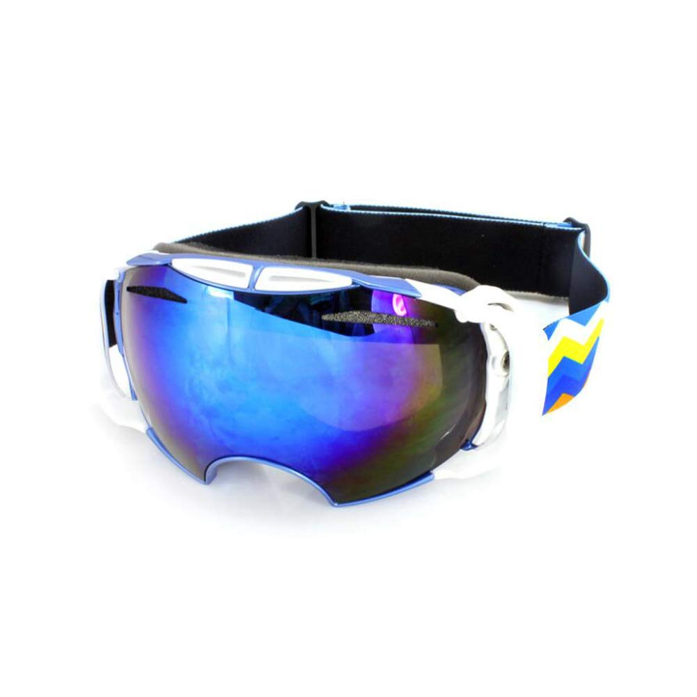 He-yanjing Ski Goggles, Snowboarding Goggle Anti-Fog UV Protection, Ski Goggles for Men and Women, Winter Adult ski Equipment (Color : Blue) by He-yanjing