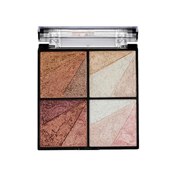 Swiss Beauty Eyeshadow, Blusher, Highlighter & Bronzer Multi Purpose Palette, Face MakeUp, Multicolor-01, 10g