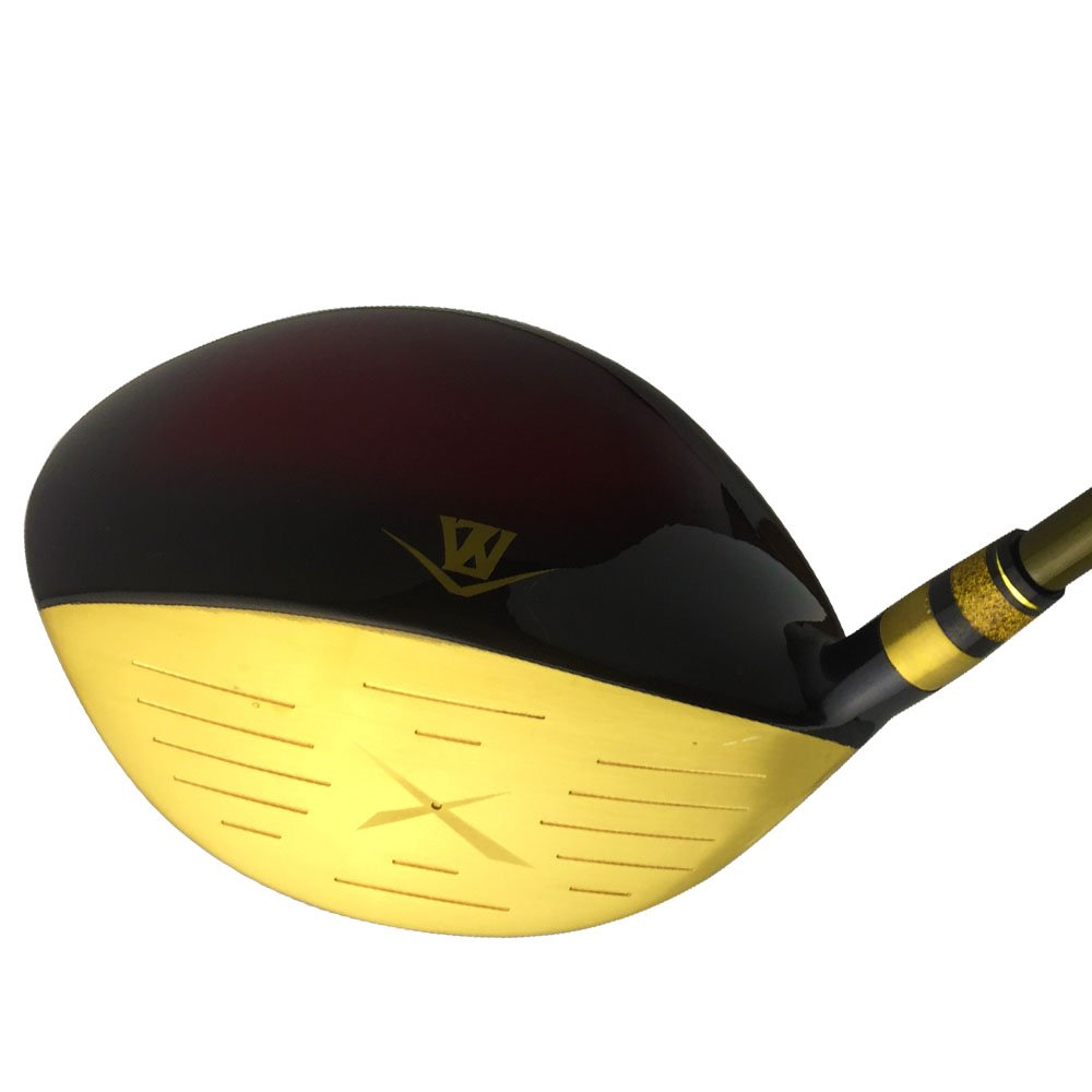 wazaki Japan Gold Finish Cyclone II Driver Golf Club+Headcover(10.5 Degree Loft,Close Face Angle,Right Handed,Pro Regular Flex,260 CPM) by wazaki (Image #5)