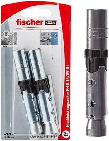 fischer 522832 Innengewindea 12//M10 SB-Karte 1 x Setzwerkzeug Inhalt: 2 x Hochleistungsanker FH II 15//M10 I Innengewinde