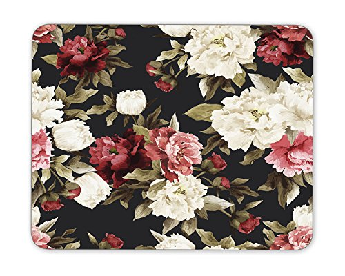 Seamless floral pattern with peony Mouse Pad mouse mouse pad Mouse Pad Pad Office Mouse Pad Gaming Mouse Pad Mat Mouse Pad mousepad Dimension: 9.5