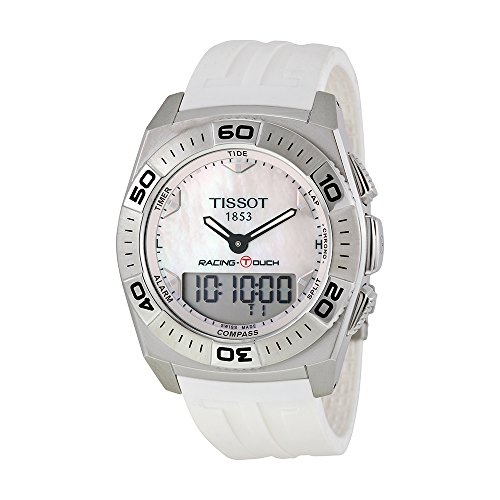 Tissot Racing Touch White Dial SS Rubber Quartz Men's Watch T0025201711100 by Tissot