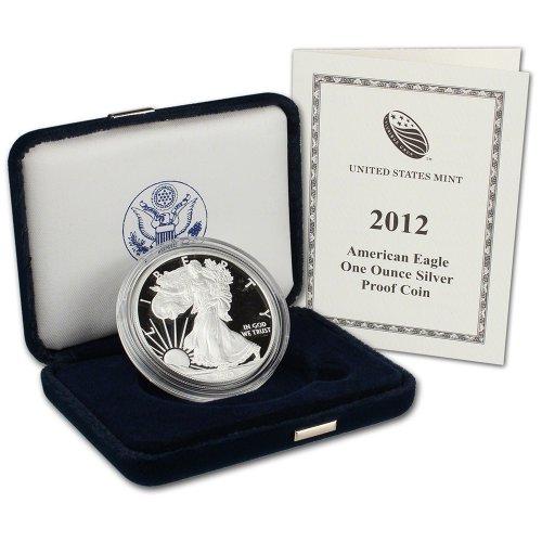 2012 W American Silver Eagle Proof $1 OGP U.S. Mint