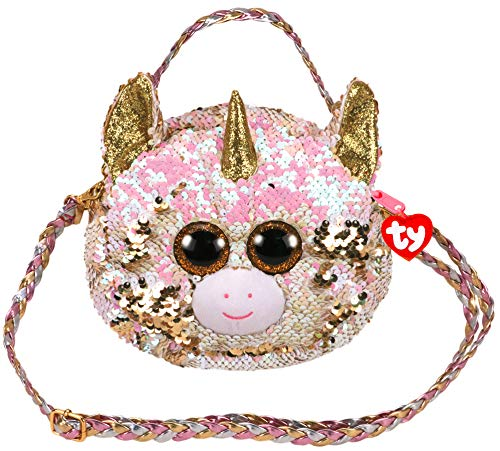 Ty TY95121 Plush Sequin Shoulder Bag 20 cm - Fantasia The Unicorn - Multi-Coloured from Ty