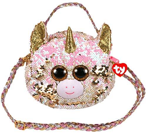 Ty TY95121 Plush Sequin Shoulder Bag 20 cm - Fantasia The Unicorn - Multi-Coloured ()