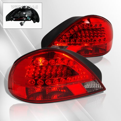 Pontiac Grand Am 99 00 01 02 03 04 05 LED Tail Lights ~ pair set (Smoke/Red)