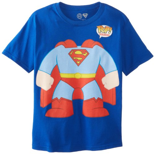 DC Comics Big Boys' Funko Superman M, Royal Blue, medium