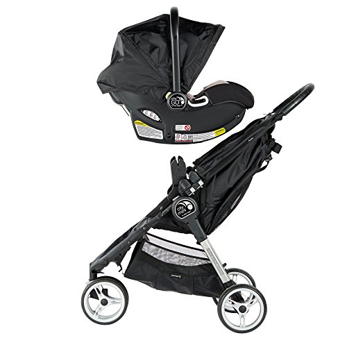 Image of the Baby Jogger City Mini Travel System, Black/Gray