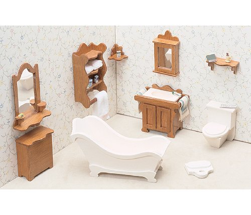 Greenleaf Dollhouse Furniture Kit for Bathroom (Contemporary Bathroom Furniture)
