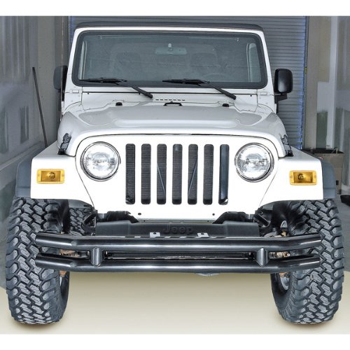 Rugged Ridge Black Front Tube Bumper with Grille Guard for Jeep Wrangler CJ YJ TJ