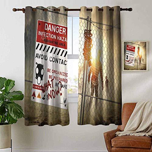petpany Grommet Curtains Zombie Decor,Dead Man Walking Dark