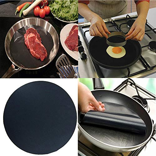 (Gotian 2Pcs High Temperature Non Stick Frying Pan Pad Liner Kitchen Accessories Potholder)