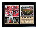 Encore Select 125-24 MLB Los Angeles Angels Mike Trout and the Angels Stadium Print, 12-Inch by 18-Inch
