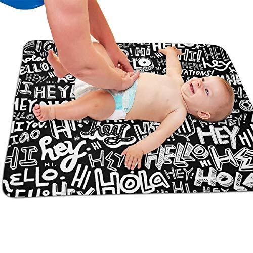 V5DGFJH.B Baby Portable Diaper Changing Pad Hello Urinary Pad Baby Changing Mat 31.5
