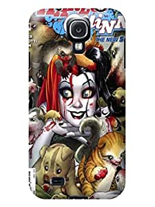 Premium slim TPU skin Protection Case with illustration fit for Samsung Galaxy s4 (Marvel Comic Harley Quinn)