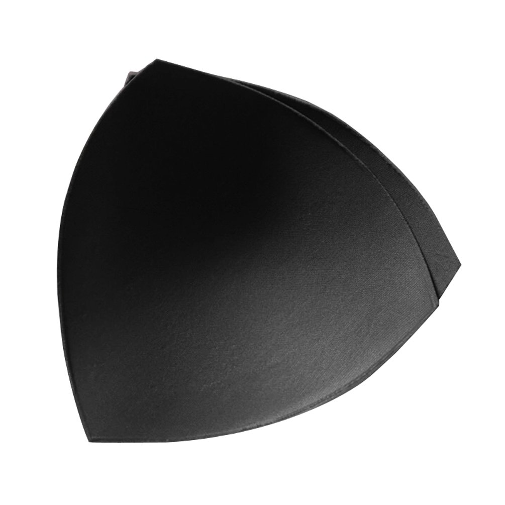 LAOO SA Foam Womens Comfy Cups Bra Pads Insert Round and Triangle (L, T-black): Amazon.co.uk: Clothing