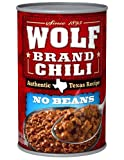 WOLF BRAND Chili, No Beans, Chili Without Beans, 24 oz.
