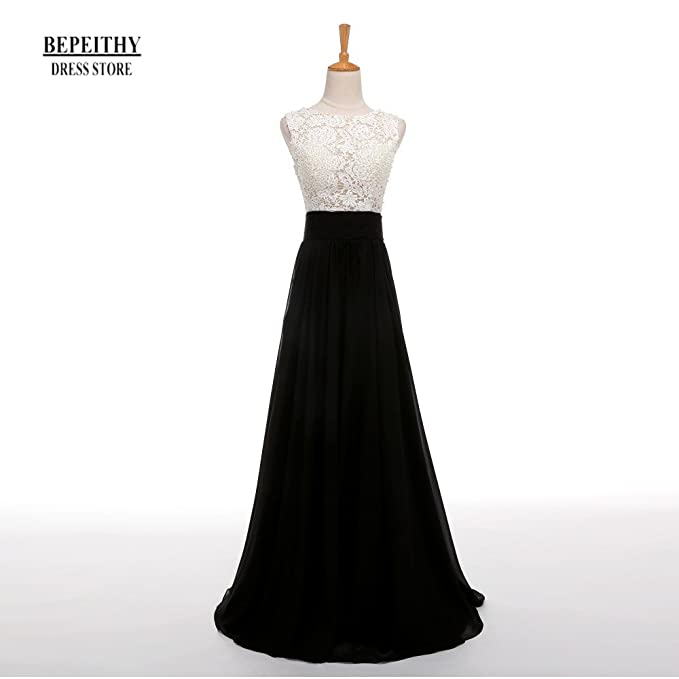huge discount 09975 f076e BEPEITHY Full Sleeves Chiffon Evening Dress Long Prom Gown ...