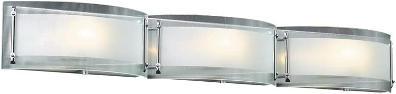 PLC Lighting 7836 PC 3 Light Vanity, Millennium Collection, Polished Chrome Finish