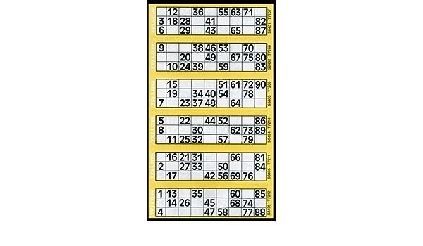 6 Coussin pour afficher des Flyers 600 Tickets de Bingo Jaune