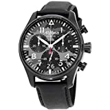 Alpina Startimer Gray Camouflage Dial Leather Strap Men's Watch AL-372BMLY4FBS6XG (Renewed)