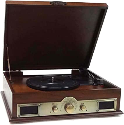 Bluetooth Compatible Classic Vintage Turntable - Retro Briefcase Style Record Player Speaker System w/ 3-Speed, USB to PC, Vinyl to Digital MP3 ...