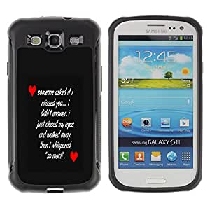 Jordan Colourful Shop@ LOVE MESSAGE Rugged hybrid Protection Impact Case Cover For S3 Case ,I9300 Case Cover ,I9308 case ,Leather for S3 ,S3 Leather Cover Case