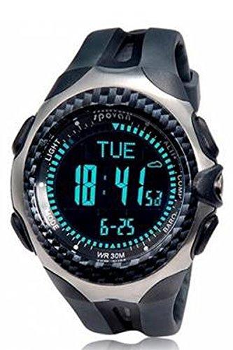 Brujula digital - Spovan MINGO I Deportes Functional al aire libre Digital Compas Reloj de Senderismo Negro: Amazon.es: Relojes