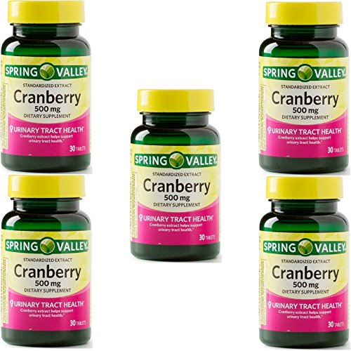 Spring Valley Standardized Extract Cranberry, 500 Mg, 30 Tablets (5 (500 Cranberry)