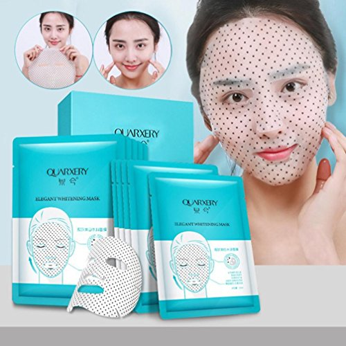 Price comparison product image Yeefant 10 Pcs Mineral Rich Magnetic Whitening Facial Face Care Genuine Moisture Mask Sheet DIY Natural Spa Skin Care Cosmetics for Women Adult, Prevent and Refine Aging,Removes Skin Impurities