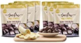 Tru Fru Dark Chocolate Dipped Freeze-Dried Real Bananas (4.5 oz), 6-Pack Case