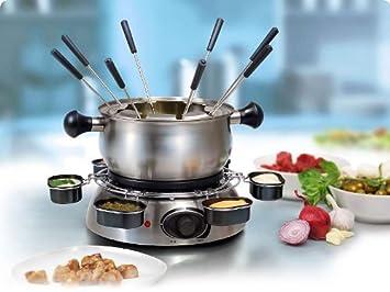 Eléctrico de acero inoxidable Set de fondue para queso 8 personas Fondue Fondue de carne Fondue