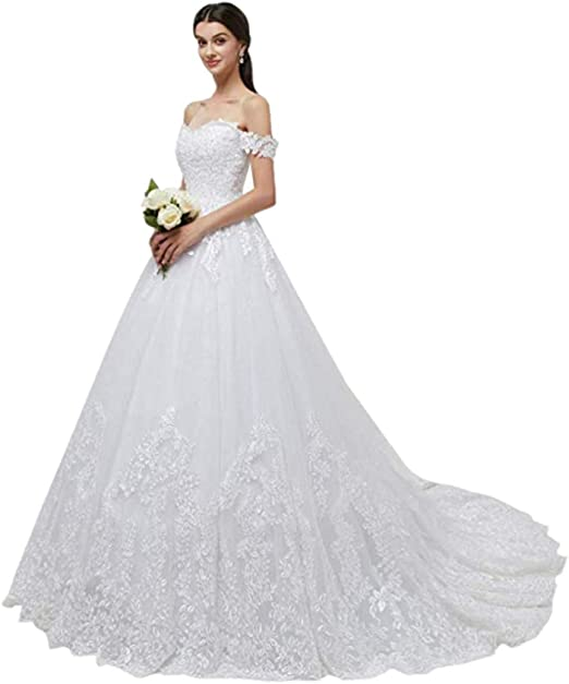 Shaobeiq Sexy Off Shoulder Princess Bridal Gowns Elegant