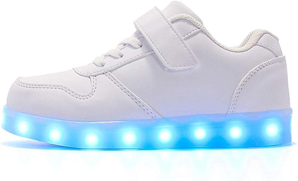 Licy Life-UK Kinder Junge M/ädchen 7 Farbe USB Aufladen LED Schuhe Leuchtend Sportschuhe Farbwechsel Sneaker Turnschuhe f/ür Junge M/ädchen Geburtstagsgeschenk